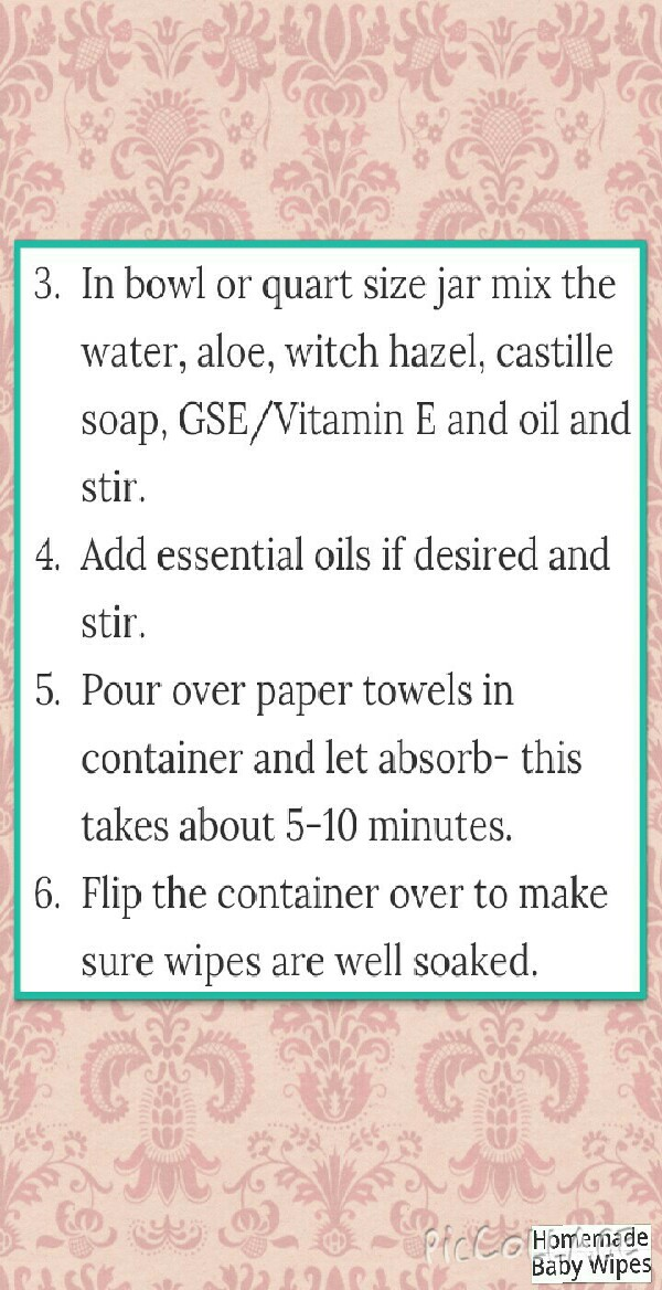 how to make wipes at home