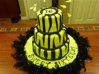 Try to replicate your vision of your ideal sweet 16 cake