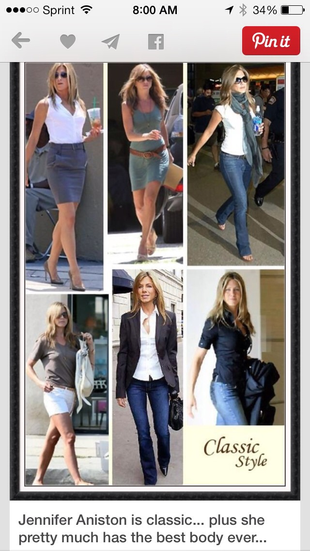 Jennifer Aniston 39 S Classic Style Musely