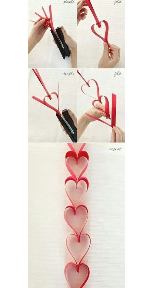 DIY Heart Shapes Decoration
