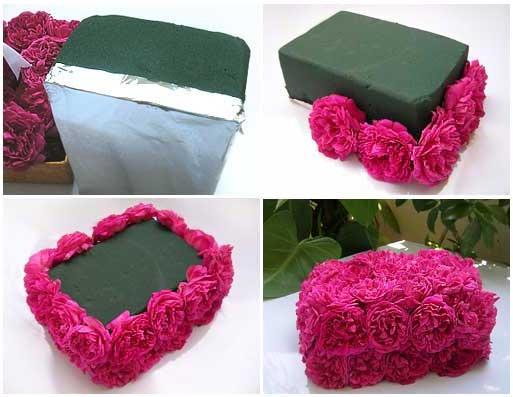 Как сделать цветы в коробке живые своими руками