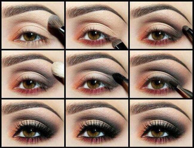 Как сделать макияж дома на глазах