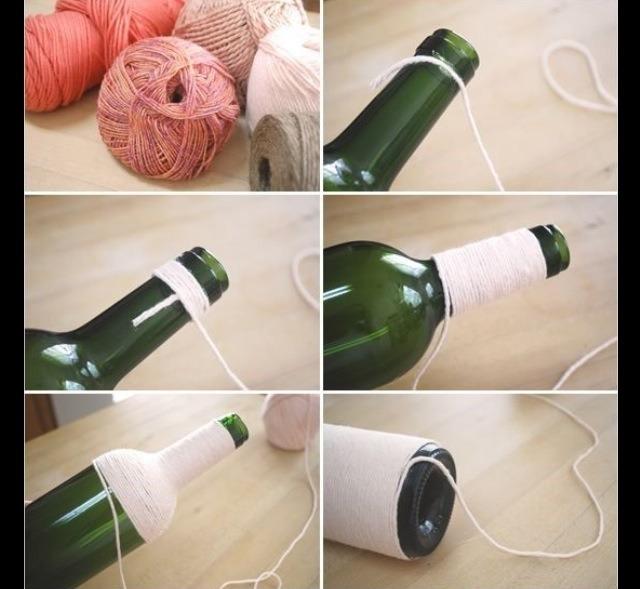 Как красиво сделать из бутылки вазу своими руками