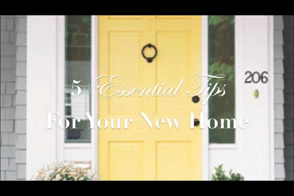 Essential tips for your new home musely