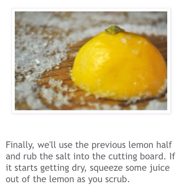 how to clean cutting board