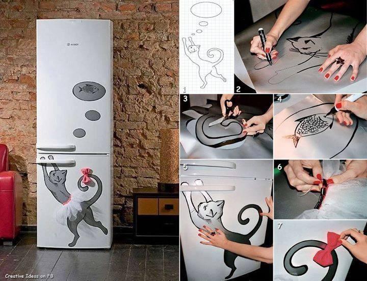 Украсить холодильник своими руками 58