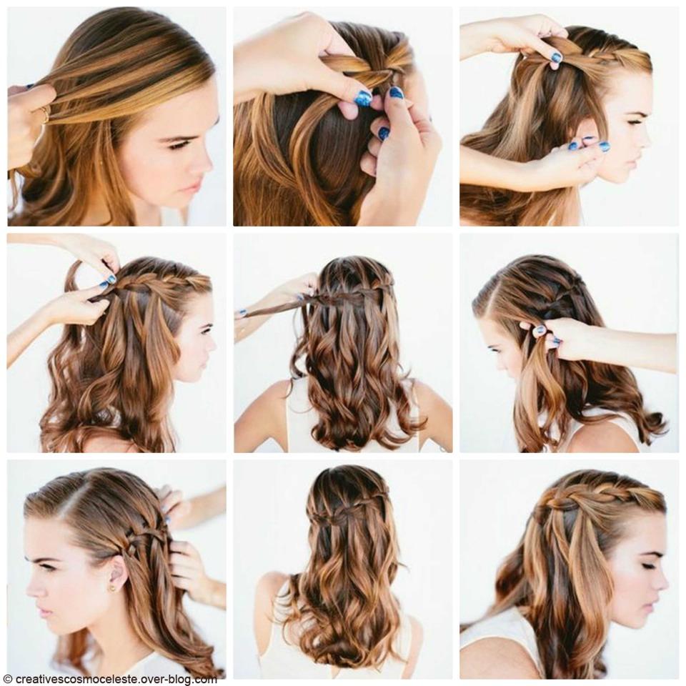 Причёски на средние волосы самой себе очень простые