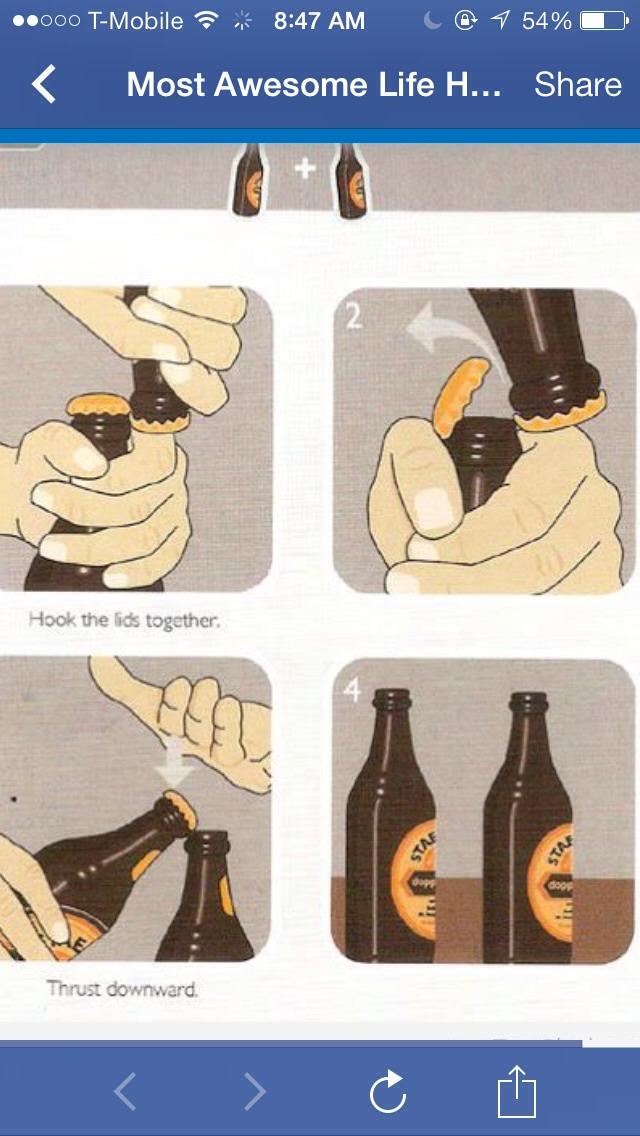 how to pop open a beer bottle