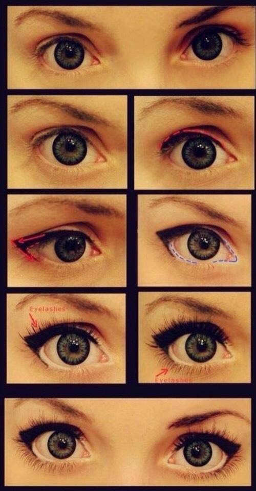 Как сделать на фото глаза большие