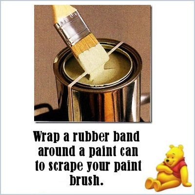 Rubber Band Paint Brush