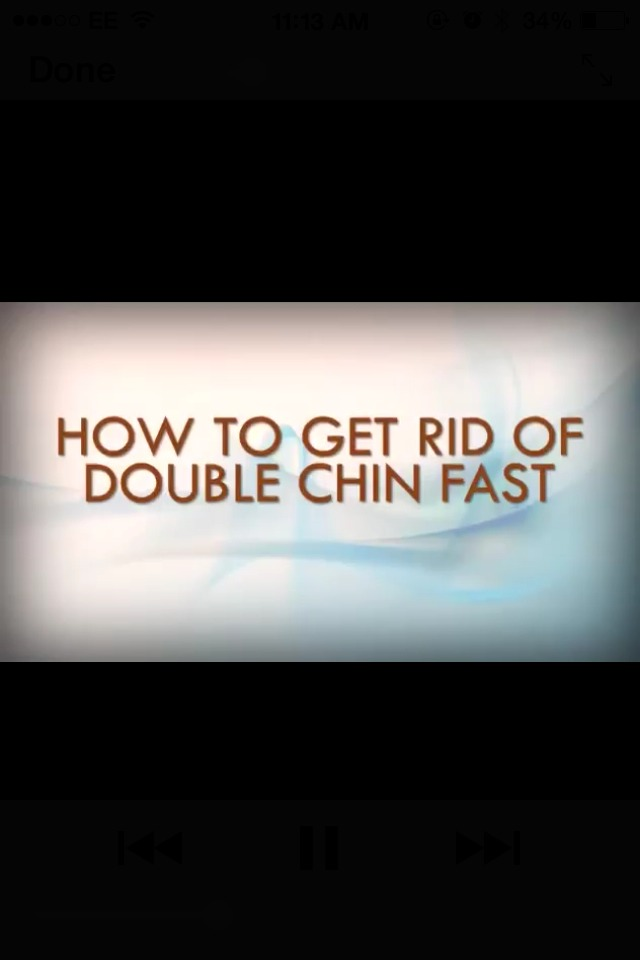 how to lose double chin fast