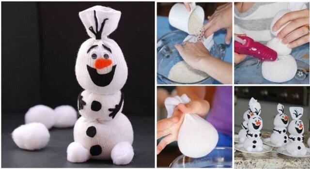 Как сделать снеговика маленького из бумаги