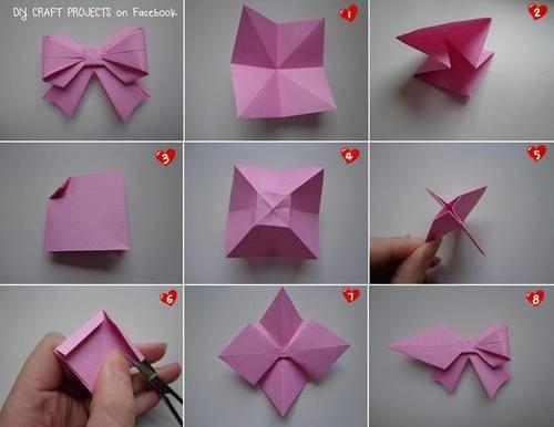 Бантик для кошки из бумаги
