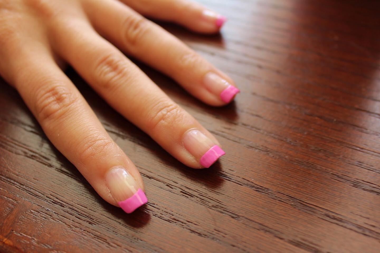 Короткие ногти френч цветной фото