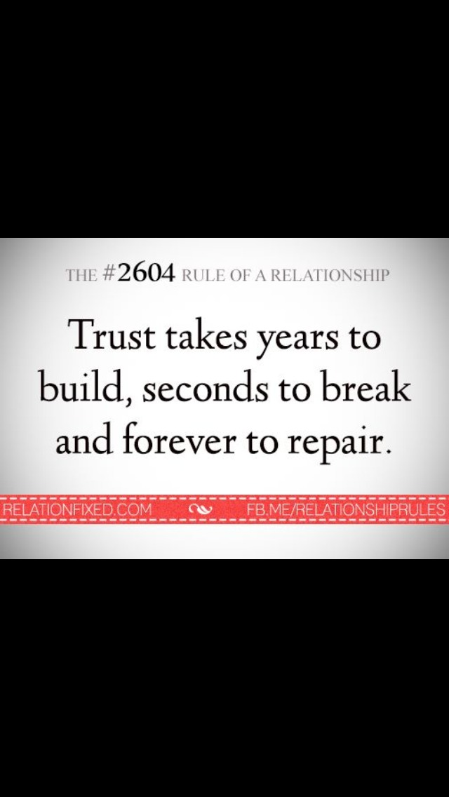 the importance of trust in a relationship Almost everyone has been hurt at some point because of a secret, a distorted truth, a lie, and/or the discovery of something that should have been talked about openly dishonesty hurts because it undermines the relationship, breaks trust and is the opposite of intimacy that means that instead of feeling.