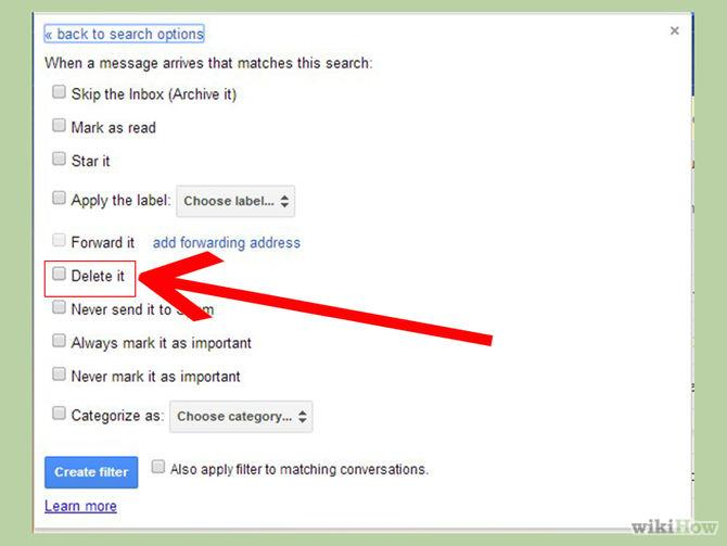 how to delete email address from gmail memory
