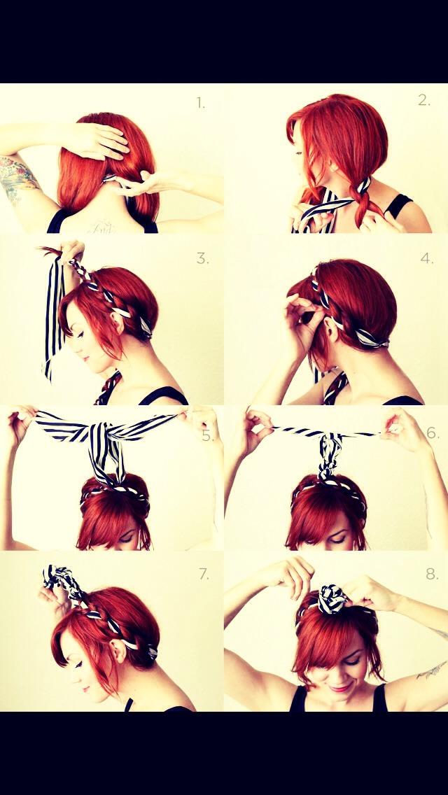 Прическа лента вплетенная в косу