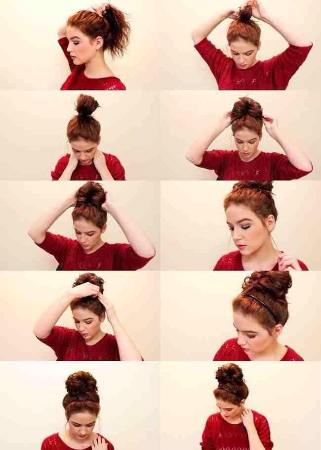 Как сделать ванильный пучок на голове видео