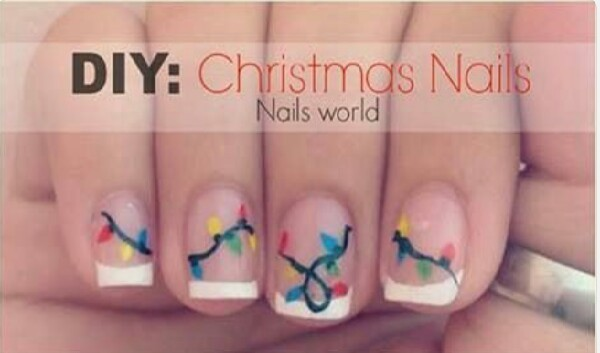christmas lights nail tutorial musely