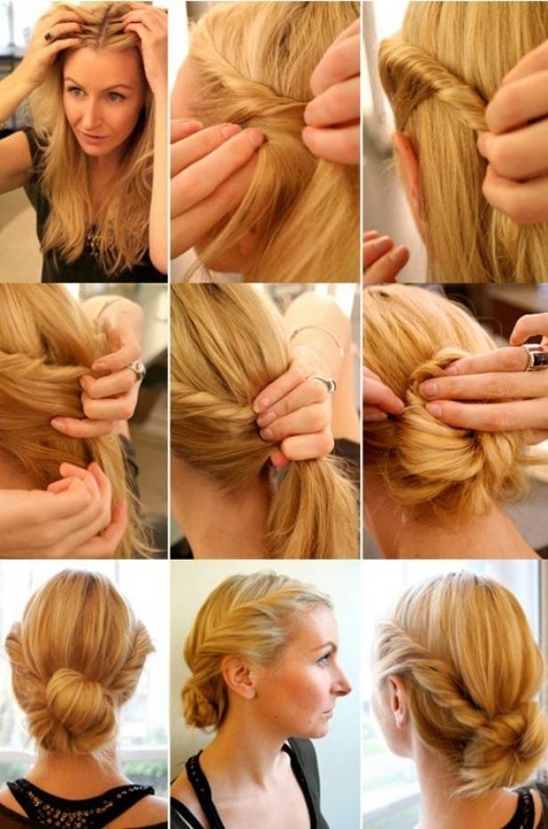 Как сделать себе причёску пучок