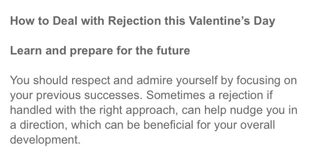How to deal with dating rejection