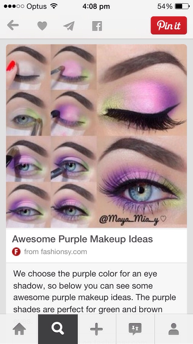 Step by step tutorial for eye makeup