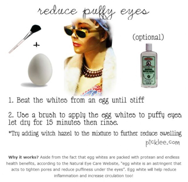 what helps reduce puffy eyes
