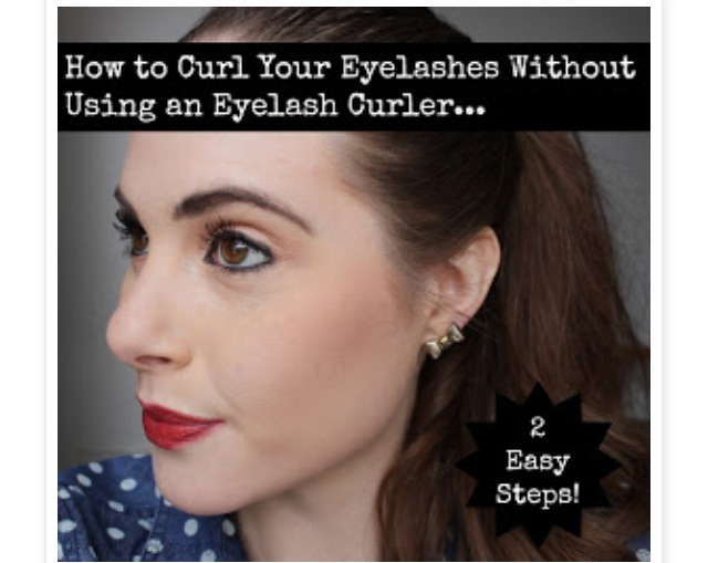 How To Curl Your Eyelashes Without An Eyelash Curler!