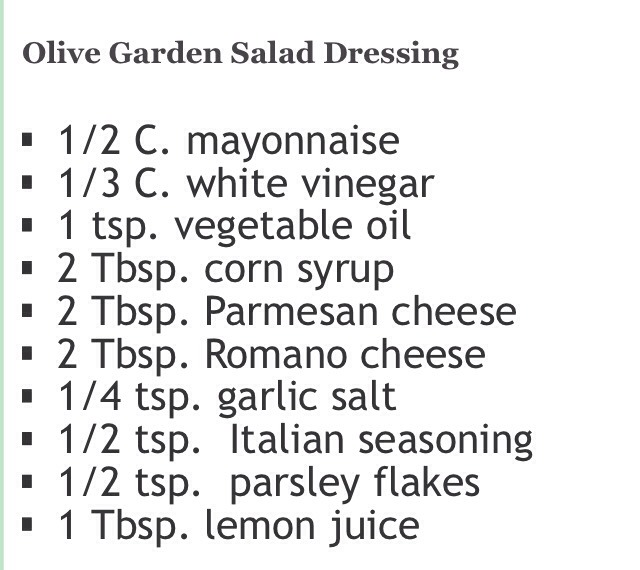 Olive Garden Salad Dressing Musely