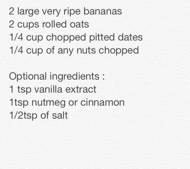 Ingredient Banana Oat Bars ! - Musely