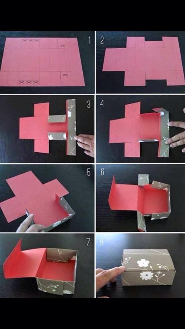 Как сделать быстро подарочную коробку