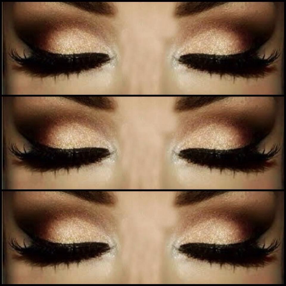 Вечерний макияж с коричневыми тонами