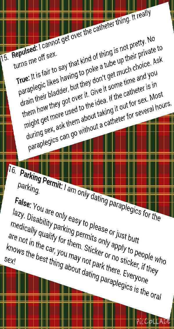 dating tips for paraplegics