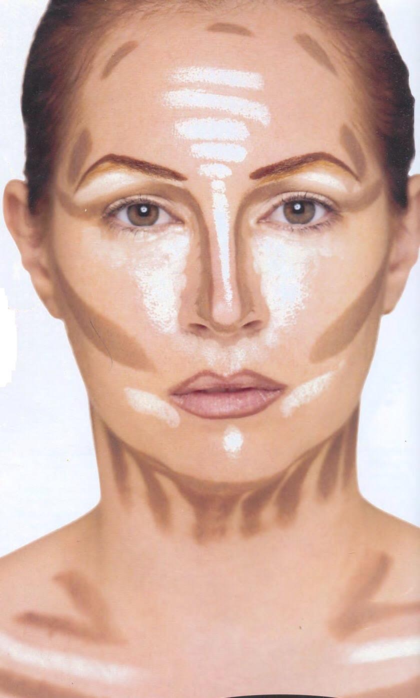Схема нанесения тонального крема на лицо фото пошагово