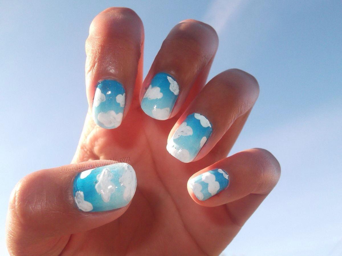 Воздушные шары на ногтях фото