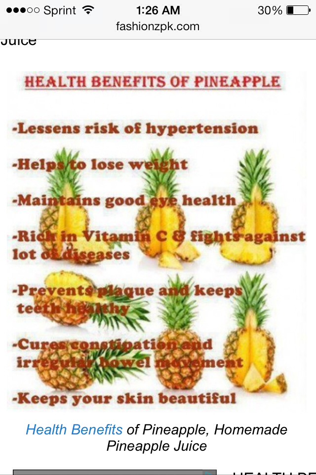 Benefits Of Pineapple Juice Musely
