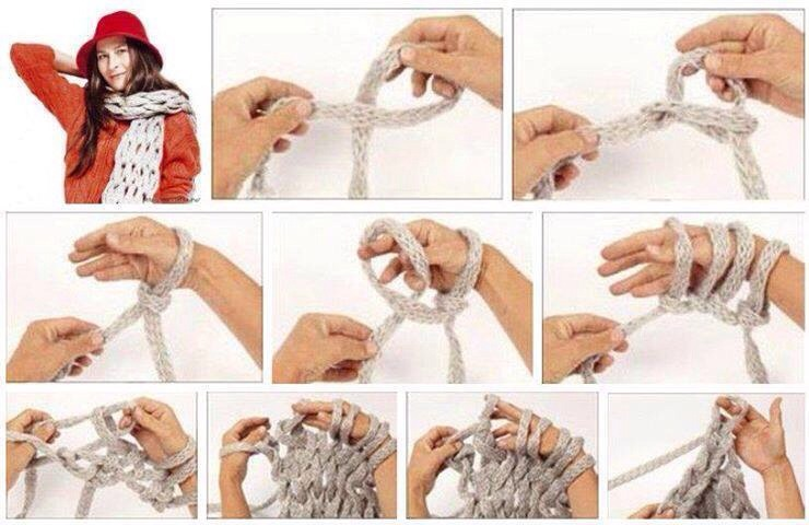 Вязать по картинкам шарф