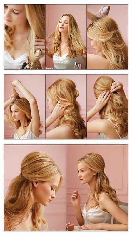 Пышная укладка на длинные волосы пошагово