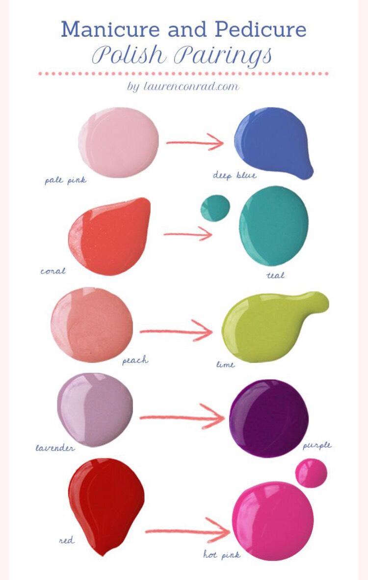 Сочетание цвета в маникюре и педикюр