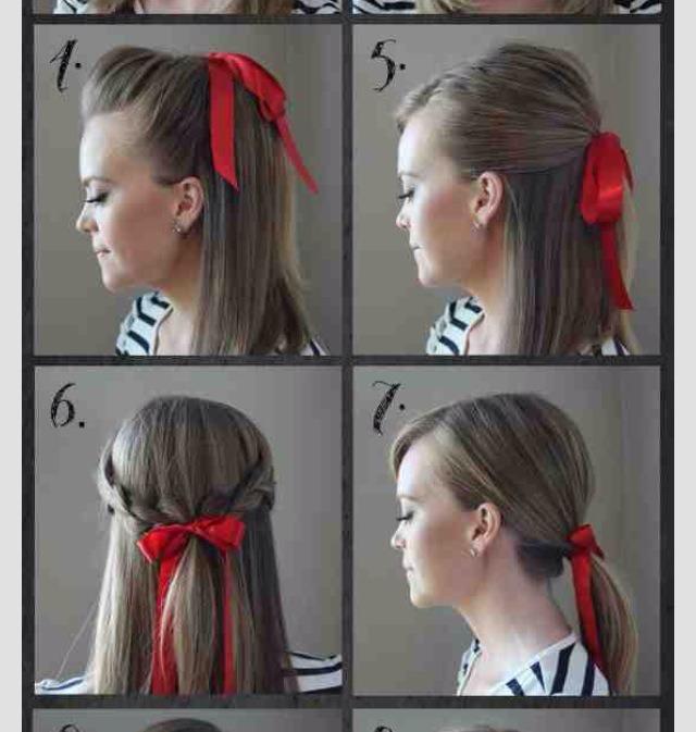Прически для волос красиво завязать