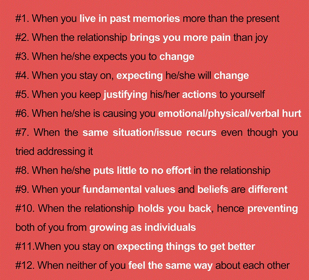 know when to move on in a relationship
