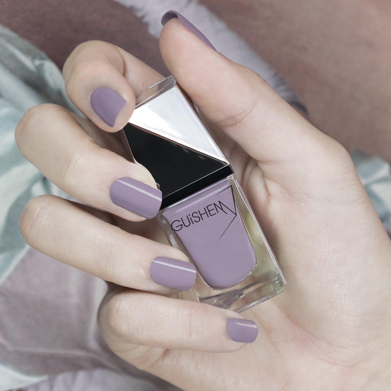 GUiSHEM Premium Nail Lacquer Crème Grey Lavender, Velvet Violet - 060