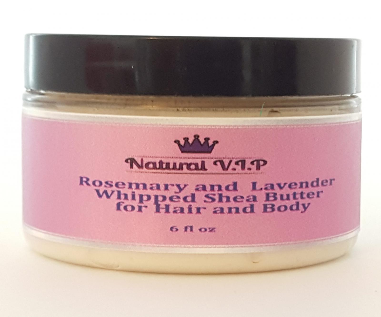 Rosemary and Lavender Whipped Shea Butter for Hair and Body 8 oz