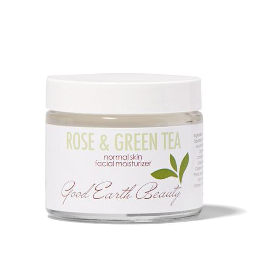 Facial Moisturizer - Natural Rose & Green Tea for Normal Skin by Good Earth Beauty