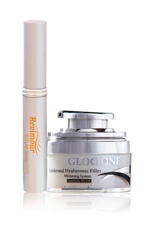 Natural Glocione Dark Spot Corrector Cream + Revimour Eylash Growth Enhancer Beauty Set