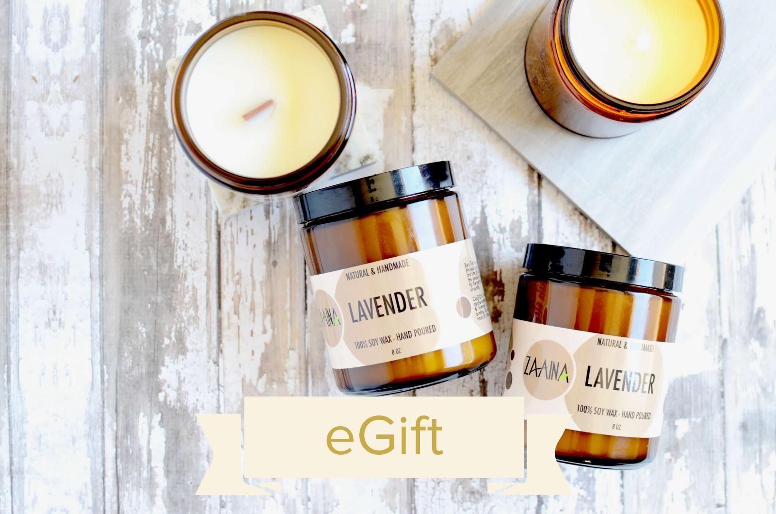 Lavender Soy Candle Gift Set eGift