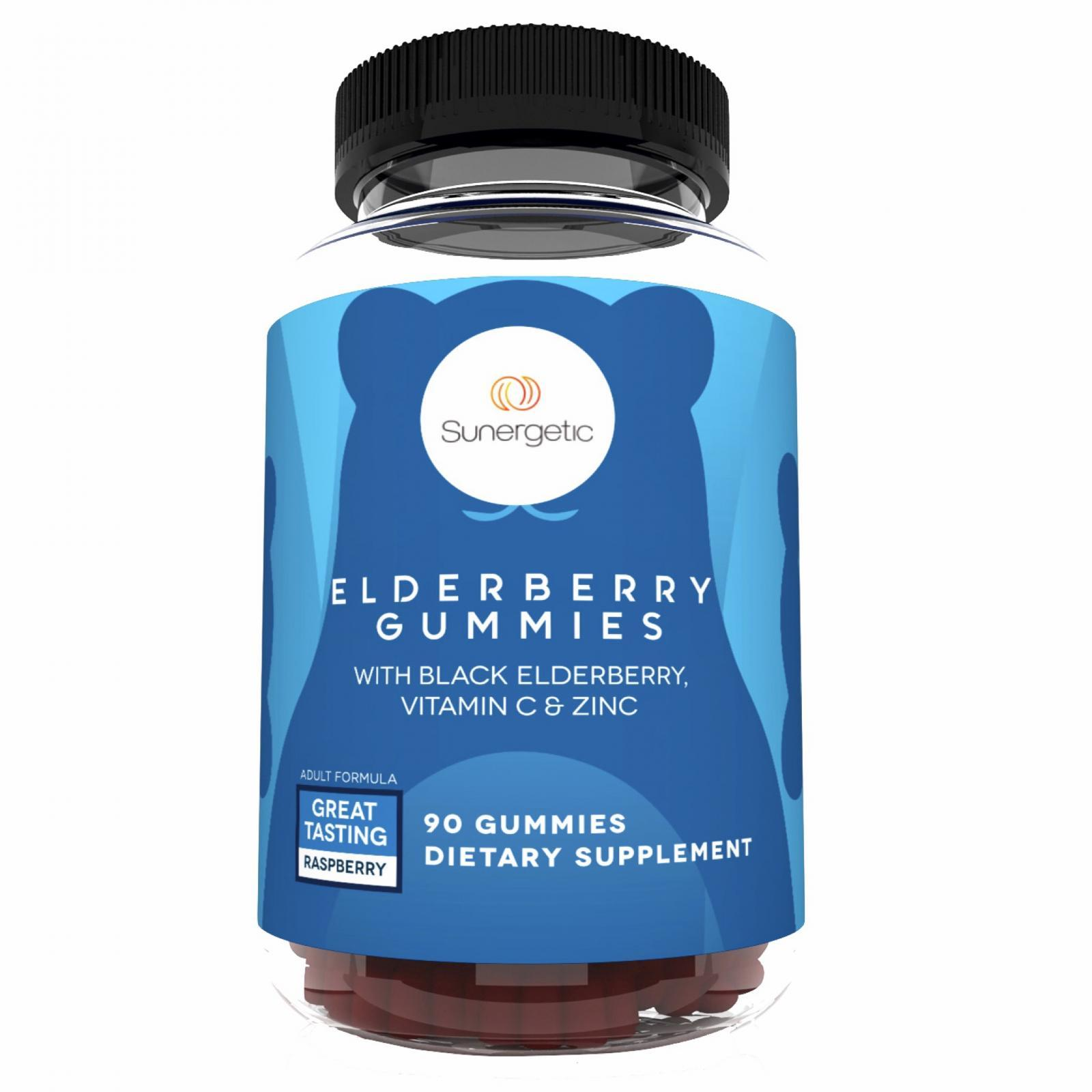 Sunergetic Premium Black Elderberry Gummies with Vitamin C & Zinc
