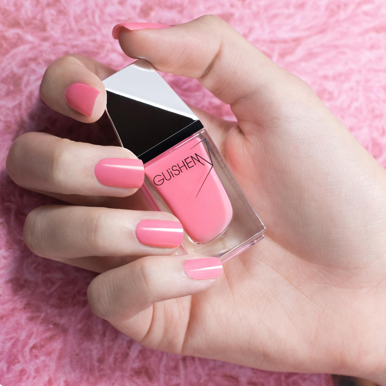 GUiSHEM Premium Nail Lacquer Shimmer Bubble Gum Pink,  Paris Pink - 031