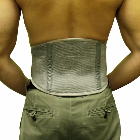 Self-Warming Back Support | Bamboo Charcoal Technology | Adjustable Fit