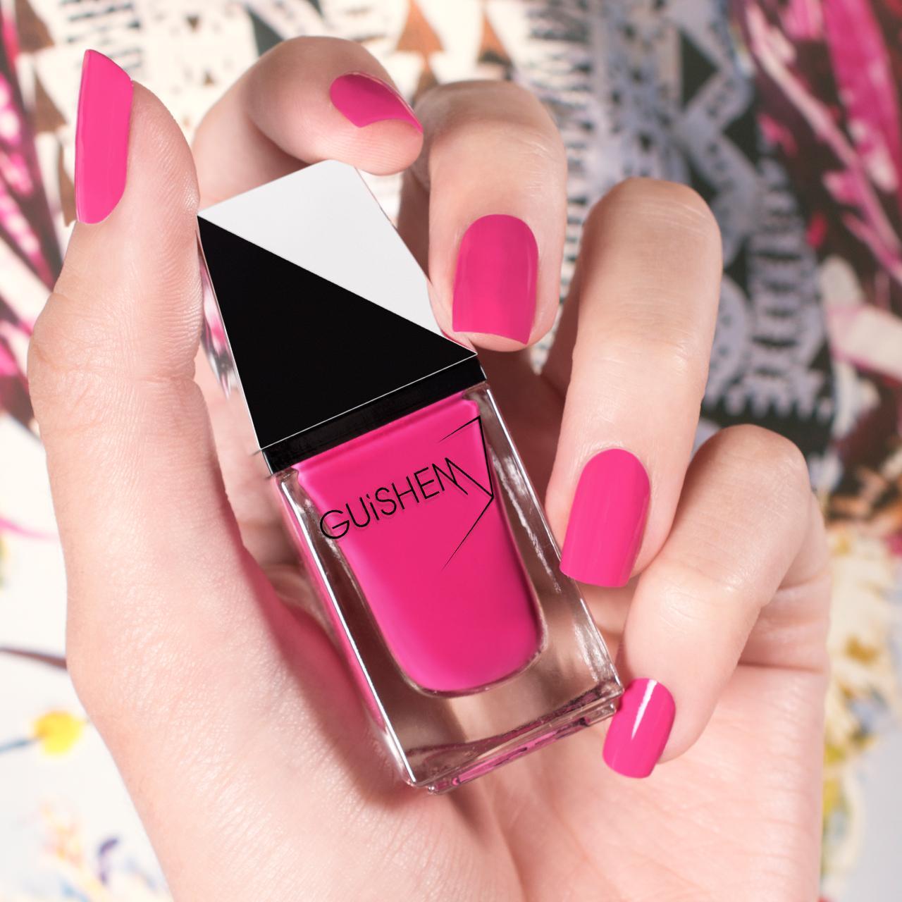 GUiSHEM Premium Nail Lacquer Crème Hot Pink, Fiesta - 002